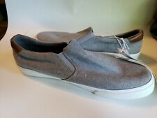 Mens Loafers Slip On Shoes Size 9 Gray Comfort Water Repellent Casual