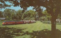 IL Chicago RIVERVIEW AMUSEMENT PARK Miniature Train Postcard A89