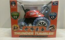 Radio Control 360 Rally Car Thunder Tumbler Blue Hat  27 mHz Red 2014 New in box