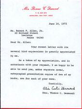 ALICE CURTIS DESMOND - TYPED LETTER SIGNED 06/04/1973