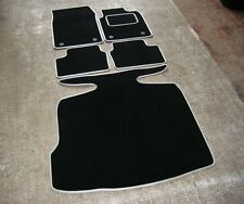 Car Mats in Black w/ Silver Trim to fit Vauxhall Vectra C (02-09) + Boot Mat