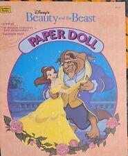 Vintage Disney's Beauty and the Beast Paper Dolls 1991 Uncut Mint