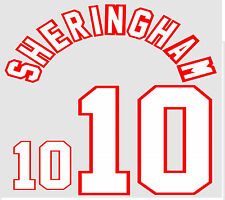 Euro 1996 Sheringham 10 England Away Football Name set for National shirt