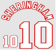 Euro 1996 Sheringham 10 England Away Football Name set for National shirt