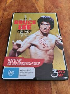 The Bruce Lee Collection Steelbook 3 x DVD 4 Documentaries Region 4 Australia
