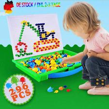 Kinder Puzzle Peg Board Mit 296 Pegs Lernspielzeug Kreative Geschenke DE STOCK