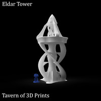 40k Eldar Terrain - Eldar Tower