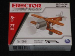 Erector by, Meccano - BIPLANE Metal Model Building Kit Boy Toy Arts/Crafts FUN