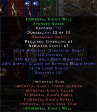 Immortal King's Will Helm 40% MF | IK König Helm |Diablo 2 Resurrected D2R SC PC