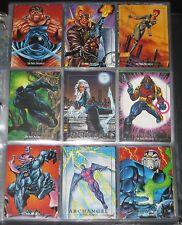 1992 Marvel Masterpieces Base Set of 100 Cards NM/M Joe Jusko!