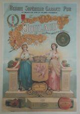 """""""BEURRE JOULAUD"""" Affiche d'intérieur originale entoilée Chromo-litho  37x51cm"""