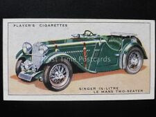 No.40 SINGER 1.5 LTR LE MANS 2 SEATER - Motor Cars, A Series - John Player 1936