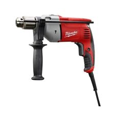 Hammer Drill Driver Second Handle Corded Power Tool Keyed Red Variable Speed New