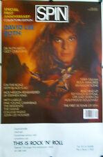 "Original David Lee Roth Spin 1st Anniversary Half Subway Poster 29 1/2"" X 45"""