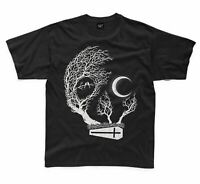 Skull With Moon and Coffin Goth Halloween Kids T-Shirt