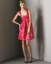 $358 NWT NEW MARC JACOBS VINTAGE SILK PINK FLORAL BUBBLE TULIP DRESS 6 2 34