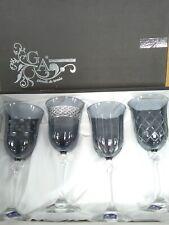 GA Gioielli Da Tavola Crystal Smoke Grey Wine Glasses