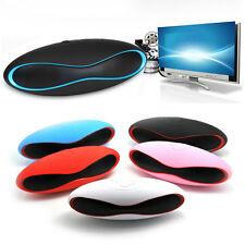Portable Wireless Bluetooth Stereo FM Speaker For Smartphone Tablet Laptop Black