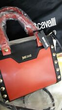 Just Cavalli Bag. Small Handbag Tote Crossbody. Red White Black. Buy New