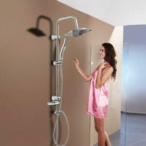 Duscharmatur Duschset Handbrause Regendusche Badezimmer Überkopfbrause Edelstahl