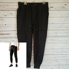 Guess Men's Cargo Jogger Pants Size 31 Charcoal Phantom Stretch Waistband Cotton