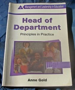 Head of Department: Principles in Practice by Anne Gold (Paperback, 1998)
