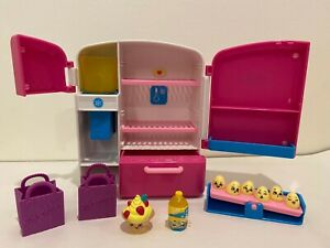 Shopkins So Cool Fridge Playset 100% Complete w/ Exclusives & 6 Mini Eggs