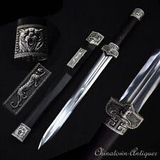 Battle Sharp HanWu Emperor Evil Spirits Swords High Manganese Steel Blade #1282