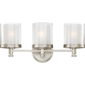 Peyton 3-Light Brushed Nickel Bath Vanity Light by Glomar