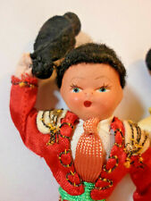 Vintage Antique Spanish Matador Picador Doll Pair Estate Collection Charming