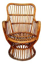 Armchair Small in Rattan Manufacture Pierantonio Bonacina Years 60 Vintage
