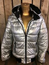 LOST IN SPACE Penny Judy Robinson Type Silver Puffer Jacket Girls 12.5-14.5