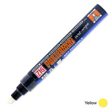 Zig Posterman Wet Wipe Marker - Broad - Yellow (Pack of 12)