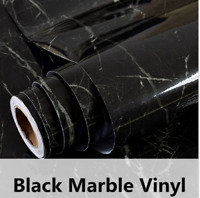 HOHOFILM Marble Gloss Vinyl Architectural Wrap Home Office Furniture Wallpaper