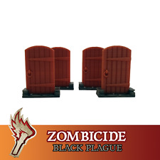 Zombicide Black Plague 4x Wooden Door Board Game