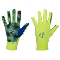 Carnac Roubaix Race Gloves - Medium  - Fluro Yellow Hi Viz -