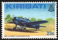 Grumman F6F HELLCAT on Betio Island WWII Fighter Aircraft Stamp