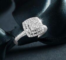 14K White Gold Over Round Cut Diamond Engagement Ring Wedding Band Bridal Ring