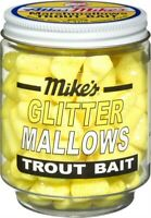 Atlas Mike's Jar of Marshmallow Cheese Glitter Salmon Fishing Bait Eggs, Yellow