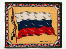 Russia Antique Cigarette Tobacco Vintage Flannel Felt World Flag Patchwork Quilt