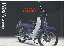 Yamaha V50M Moped (1978) Dealership Sales Brochure V50,V 50 M (not C 50/90 Cub)