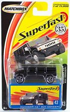 Matchbox MB 43 Hummer H2 SUV Concept 2004 Limited Edition 35 Years New On Card