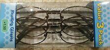 Reading Glasses Oval Foster Grant Magnivision +1.50 Reading Glasses Value 3 Pack