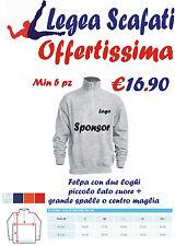 Felpa Mezza Zip Personalizzata Stampa Logo Colori Forniture Negozi Uomo Donna