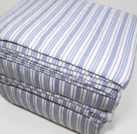 Cuddl Duds Heavyweight Multi Colors Blue Ticking Stripe Flannel King Sheet Set