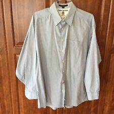 Tommy Hilfiger 17 1/2 X 34/5 Blue Gingham LS Button Shirt