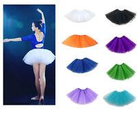 Damen Tütü Tutu Ballettrock Tüllrock Petticoat Kleid Ballettkleid Rock Ballett