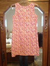 FADED GLORY 100% Cotton Floral Sleeveless Sheath Dress Womens Sz M Zipper