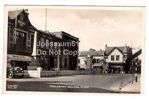 1950's Tuck RPPC Trelawney Square, Flint, Flintshire.