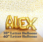 "16""/40"" Gold Silver Letters Numbers Balloons Foil Birthday Wedding Party Decor"
